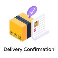 Delivery Confirmation and Logistics vector
