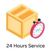 24 Hours Service vector