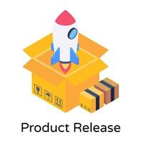 lanzamiento y lanzamiento del producto vector