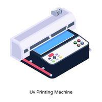 Uv Printing Machine vector