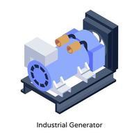 generador industrial diesel vector