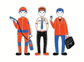man profession in flat design style vector