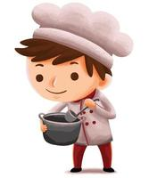 kids chef in cute character style vector