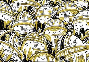 bosscha doodle in flat design style vector