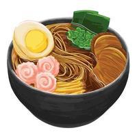 ramen  japanese food in flat design style vector