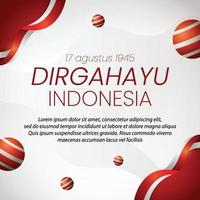social media instagram post banner Indonesia independence day vector