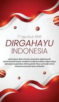 social media instagram story banner  Indonesia independence day vector
