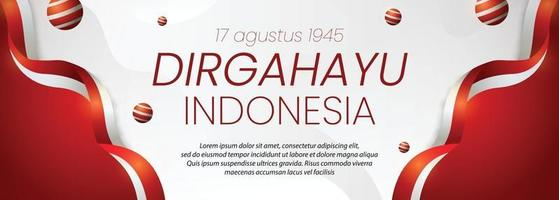 social media banner Indonesia independence day 17th August vector