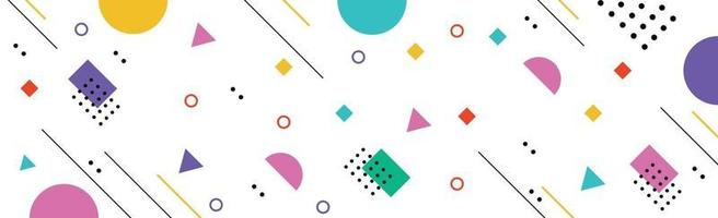 Abstract background with different geometric shapes - illustration vector
