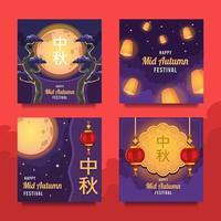 Mid Autumn Festival Social Media Post vector