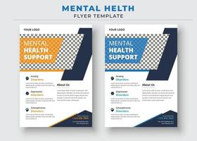 Mental Health Support Flyer Template, support group flyer and poster vector