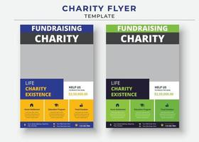 charity flyer Template, life charity existence promotion, flyer design vector