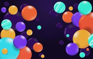 Colorful Abstract Glossy Balls Background vector