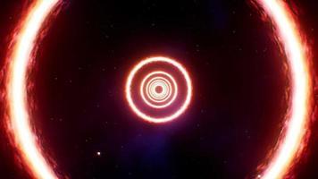 voler à travers un anneau de feu dans l'espace video
