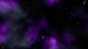 spostati nello spazio della nebulosa di colore neon più profondo video