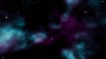 tuffati nello sfondo del cielo della nebulosa spaziale video