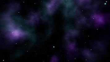 cielo della galassia nebulosa al neon volante flying video