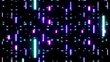 Neon Particles Falling Down Effect Loop video