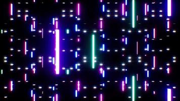 boucle d'effet de chute de faisceau laser au néon video
