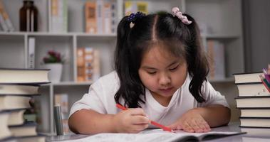 Girl Enjoy Painting Colors on Drawing Paper video