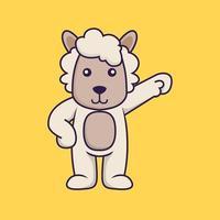 Cute sheep hero. vector