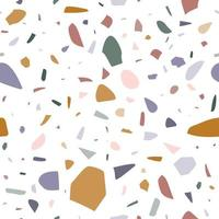 Terrazzo seamless pattern, colorful abstract geometric background vector