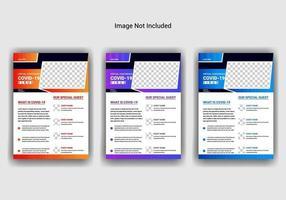 covid-19 Virus flyer template Design vector