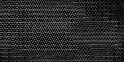 Dark Gray vector background with lines, triangles.