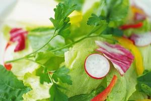 Healthy and nutritious vegetable salad photo