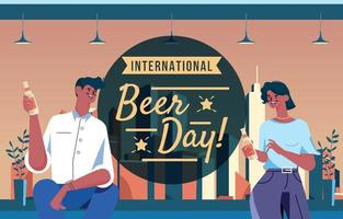 Celebrate Beer Day With Friends vector