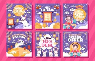 Mid Autumn Sale Social Media Post vector