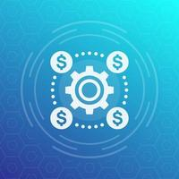 financial operations concept vector