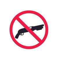 no guns sign with shotgun, vector