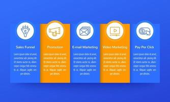 digital marketing infographics, banner design with icons vector