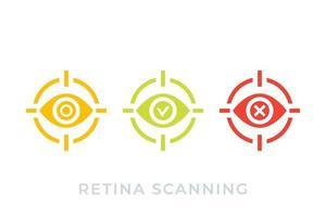 retina scan icons vector