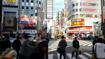 zone de shinjuku time-lapse dans la ville de tokyo, japon video