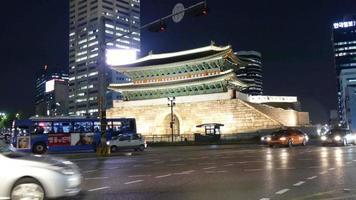 Namdaemun Gate in Seoul City, South Korea video
