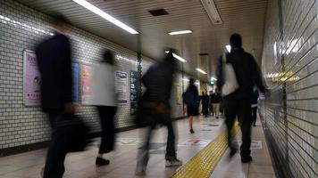 Time lapse crowded people in subway, Tokyo Japan video