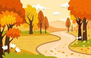 Autumn Scenery Background vector