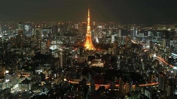 Toits de la ville de Tokyo au Japon video