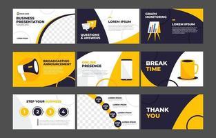 Business Presentation Template vector