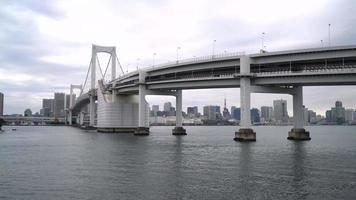 Rainbow bridge with Tokyo Tower in Japan video