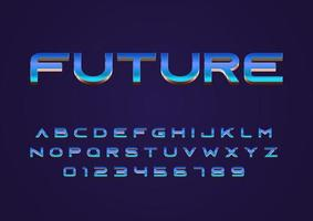 future techno concept style vector font uppercase and digit number