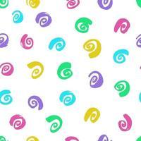Ink curls. Seamless pattern. Hand drawn spirals, snails vector