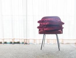 Beautiful luxury pillow on sofa decoration in livingroom photo