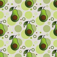 Seamless pattern with sprinkled avocado and simple geometric shapes vector