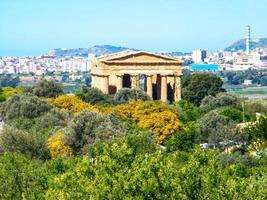 Ancient ruins in the Valley of the Temples in Agrigento, Italy, 2013 photo