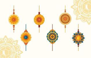 Happy Raksha Bandhan Elements vector