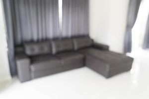 Desenfoque abstracto en la sala de estar de fondo foto