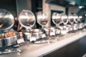 Resumen borroso catering buffet de comida en el restaurante - filtro de efecto vintage foto